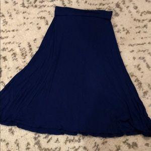 LulaRoe Royal Blue Maxi Skirt